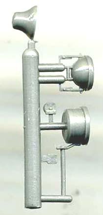NUMBER PLATE ASST #1-8 On3 On30 Model Railroad Locomotive Unptd Plastic GL126