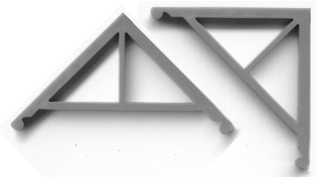 Grandt Line 1:48 Scale Ornate Spool//Spindle Gable Trim With Brackets