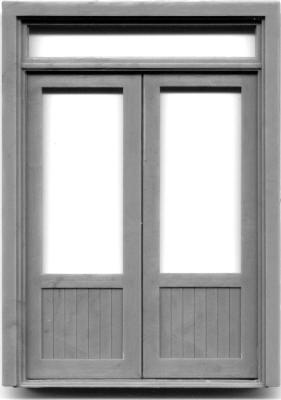 3916 72u2033 DOUBLE DOOR W/WINDOW-TRANSOM ...  sc 1 st  Grandt Line & 1/2u2033 Scale u2013 Doors u2013 Grandt Line Products