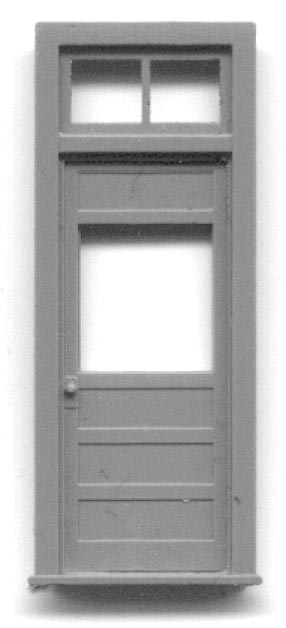 5291, 34u2033 X 6 10u2033 PANELED DOOR WITH WINDOW AND FRAME WITH TRANSOM Door And  Frame Separate Pieces . ...